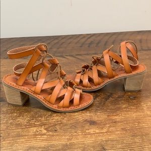 American Eagle Strappy Lace Up Gladiator Sandals